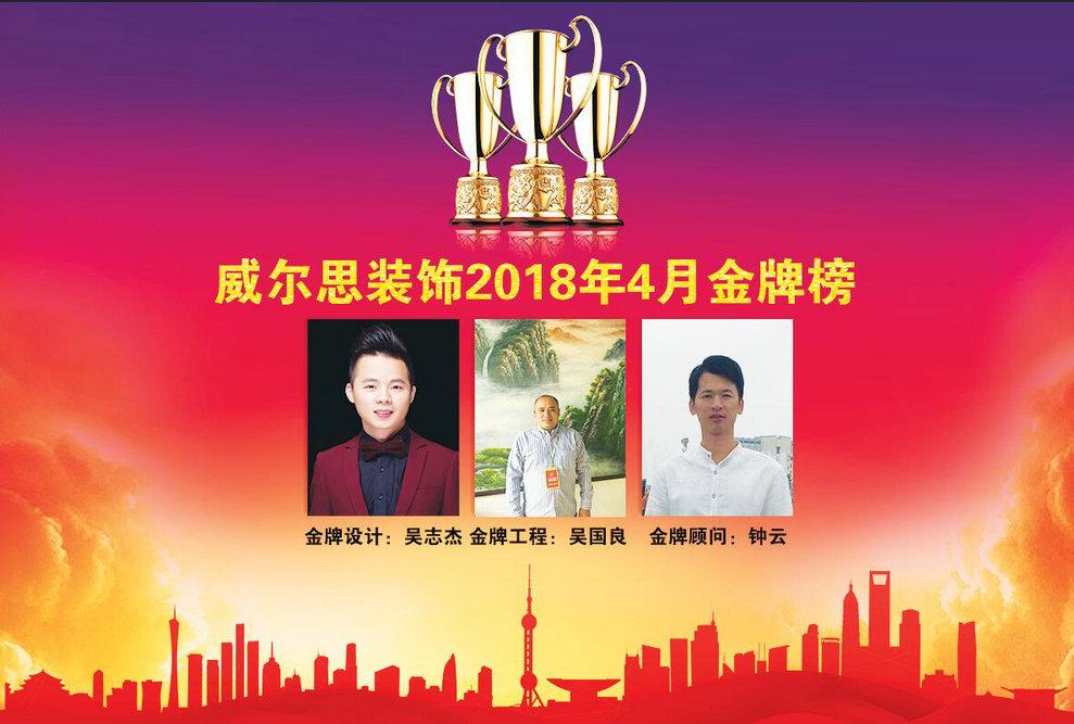 北京11选5开奖结果公告思装饰2018年4月优秀员工金牌榜